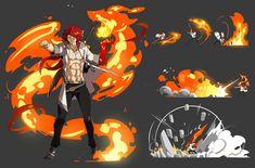 Game Character Design, Fantasy Character Design, Character Design Inspiration, Character Concept, Character Creation, Character Art, Fighting Drawing, Magic Design, 3d Fantasy