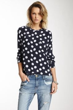 Lynn Long Sleeve Silk Blouse