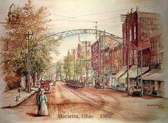"""Marietta, OH 1902"" by Artist Michael Dickinson"