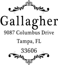Gallagher Vintage Deco Address Stamp