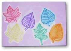 Fall Leaf Watercolors Painting Lesson Plan: Painting for Kids - KinderArt - using water washable markers