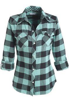 Cute mint flannel