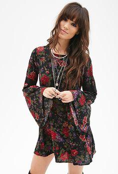 Floral Print Skater Dress | FOREVER 21 - 2000099983