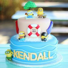 Minion Pool Party Cake