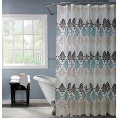 Bath Bliss PEVA Chandelier Design Shower Curtain