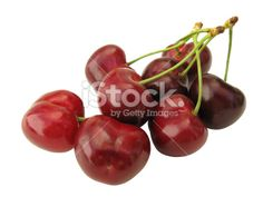 Cerise, Fruit, Rouge, Fruit Rouge, isolé Photo libre de droits