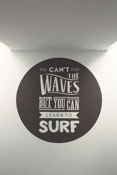 Surfing Quote Mural