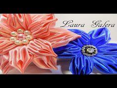 Rosa de listón satinado paso a paso / ribbon rose tutorial - YouTube