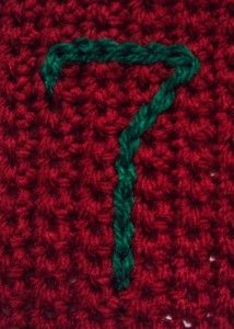 Crochet - how to do surface crochet/surface slip stitch to monogram or put designs on crocheted items.