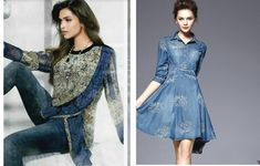 Stylish Denims – wanaabeehere Dresses With Sleeves, Elegant, Denim, Stylish, Long Sleeve, Fashion, Classy, Sleeve Dresses, Long Dress Patterns