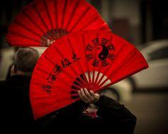 A group practices Tai Chi with fan at at temple in Northern China Tai Chi Chuan, Tai Chi Qigong, Sun Tv Shows, Japanese China, Shaolin Kung Fu, Kung Fu Panda, The Rev, Keep Fit, The Last Airbender