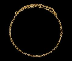 Romano-Egyptian Gold Link Chain Necklace, 30 B.C./323 A.D.