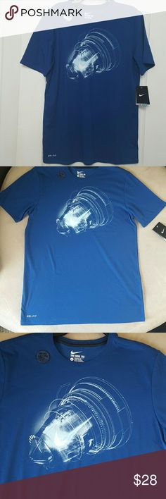 Men's Nike Tee Large NWT Men's Nike Dri-Fit Cotton T Dri-Fit pulls away sweat to help keep.you dry and comfortable.  Brand new with tags. Nike Shirts Tees - Short Sleeve