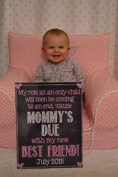 Pregnancy Reveal // Pregnancy Announcement // Big Sister // Only Child // Only Child Expiring // Chalkboard by ChalkingItUpBoards