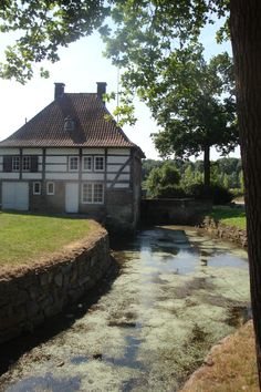 Schinnen, kasteel Terborgh. The Netherlands