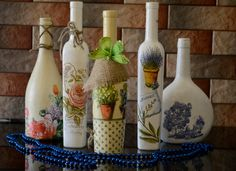 Very nice decorated bottles.