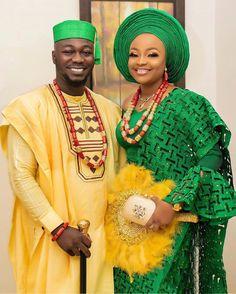 Nigerian Traditional Wedding, Traditional Wedding Attire, Traditional Weddings, African Wedding Attire, African Attire, African Beauty, African Fashion, Ankara Fashion, Mustard Wedding Theme