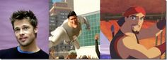 "Brad Pitt – Machomen (""Megamind"")-Sinbad (""Sinbad: Legend of the Seven Seas "") Sinbad, Cartoon Movies, Voice Actor, Cool Cartoons, Brad Pitt, Seas, Good Movies, Movie Tv, The Voice"