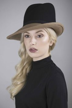 Two Tone Fedora BY MAGGIE MOWBRAY #millinery #hats #HatAcademy