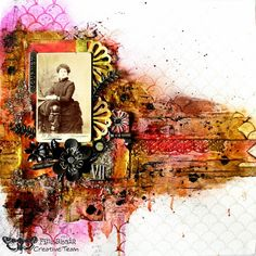 Carpe Diem! ~ Striking mixed media heritage page using Tim Holtz techniques and products - Tutorial and product list included.