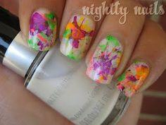 Nightly Nails: Nail Art: Neon Splatter