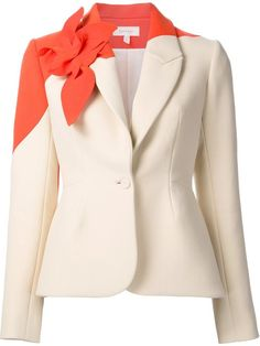 Delpozo floral embellished fitted blazer in All Too Human from the world's best independent boutiques at . Shop 400 boutiques at one address. Floral Blazer, Floral Jacket, Pink Jacket, Blazer Jacket, Printed Blazer, Jackett, Delpozo, Work Attire, Colored Blazer