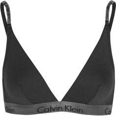 Calvin Klein Underwear Stretch-jersey soft-cup triangle bra ($40) found on Polyvore