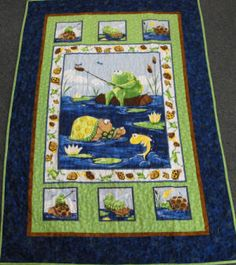 Kids Quilts  - Turtle & Frog Cot Quilt Kit