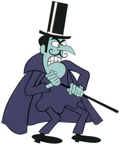 """""""Curses, foiled again!'' Snidely Whiplash, the archenemy of Dudley Do-Right on the Rocky and Bullwinkle Show. His voice was provided by the wonderful character actor/voice actor Hans Conried. Classic Cartoon Characters, Classic Cartoons, Movie Characters, Old School Cartoons, Cool Cartoons, Vintage Cartoon, Cartoon Art, Female Cartoon, Desenhos Hanna Barbera"""