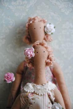 Фая и Тая две подружки. Куклы Дяченко Екатерины.