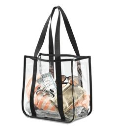 This event custom tote bag complies with NFL regulations and ensures convenient entry through security gates next time you attend a sporting event, concert or festival. Clear Tote Bags, Transparent Bag, Custom Tote Bags, Printed Tote Bags, Corporate Gifts, Online Bags, Bag Sale, Gym Bag, Shoulder Bag