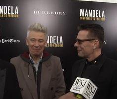 "Adam Clayton and Larry Mullen Jr from U2 at the premiere of ""Mandela: Long Walk to Freedom"" in New York City, November 2013 #u2newsactualite #u2newsactualitepinterest #u2 #AdamClayton #LarryMullen #LarryMullenJr #music #rock #film #picture #cinema #LongWalkToFreedom #Mandela #2013 http://bartimaeu2s.tumblr.com"