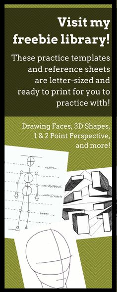 Freebie Library for Art Teachers- Free printable letter-sized PDFS - art worksheets- drawing perspective, human head/face, human body, and much more! Human Face Drawing, Realistic Eye Drawing, 3d Drawing Tutorial, Drawing Tutorials, Drawing Ideas, Drawing Designs, Facial Proportions, 3d Drawings, Pencil Drawings