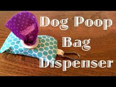 This is a guide about making a dog poop bag dispenser. One way to always have a poop bag handy when walking your dog is by having a supply with you. Poop Bag Holder Diy, Diy Bag Dispenser, Diy Dog Bag, Diy Dog Collar, Dog Crafts, Dog Items, Pet Accessories, Sewing Projects, Sewing Ideas