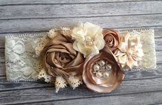 Vintage inspired Ivory taupe satin lace by lexicouture on Etsy, $16.99