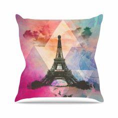 Found it at Wayfair - Eiffel Tower by Alyzen Moonshadow Throw Pillow