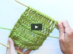 Patterns with dropped stitches/elongated stitches with different lengths are very popular. In this DROPS video we show how to knit a dropped stitch with 1 yo and…