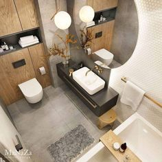 Here are 16 awesome ideas for diy Christmas decorations. Modern Bathroom Design, Bathroom Interior Design, Interior Design Living Room, Eclectic Bathroom, Small Bathroom, Bathroom Ideas, Bad Inspiration, Bathroom Inspiration, Wc Design