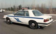 1983 Washington State Patrol Mustang, with a Jetsonic lightbar