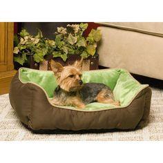 K&H Manufacturing Self-Warming Heated Lounge Bolster Dog Bed & Reviews   Wayfair