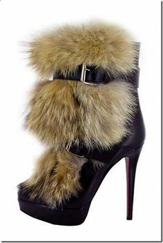 christian louboutin fur shoes 6 Christian Louboutins Fur Inspired Autumn  Collection Shoes Woo Crowds Полусапожки, 99ff64091cb