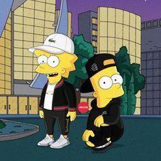 The simpsons ♥️👌🏻 Simpson Wallpaper Iphone, Cartoon Wallpaper, Rauch Fotografie, Trill Art, Simpsons Art, Supreme Wallpaper, Dope Wallpapers, Hypebeast Wallpaper, Sneaker Art