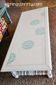 Stenciled coffee table.