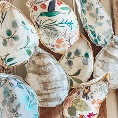 Shell Candles, Photo Candles, Oyster Shells, Chalk Paint Furniture, Oysters, Napkin Rings, Decoupage, Unique Gifts