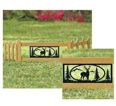 3pc Deer Garden Fence  Decorative By Cher Bear Decor. $14.49. Wooden With  Metal