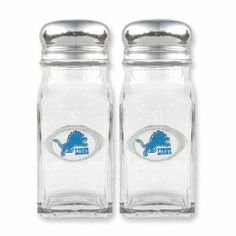 NFL Lions Glass Salt and Pepper Shakers Real Goldia Designer Perfect Jewelry Gift goldia. $20.50