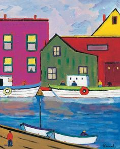 Lobster Boats by Robert Kennedy Painting Print on Wrapped Canvas