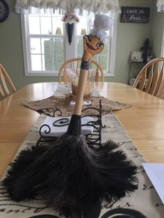 Feather duster from beauty and the beast