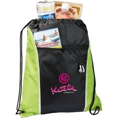 Promotional Products Ideas That Work: The Funnel Drawstring Cinch Backpack. Get yours at www.luscangroup.com