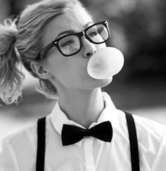 Glasses & bubble gum